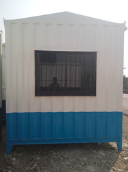 Stainless Steel White And Sky Blue Office Cabins