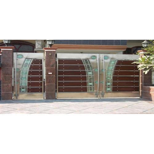 Brown 304 Grade Stainless Steel Main Gate Complete Rs 1150 Square