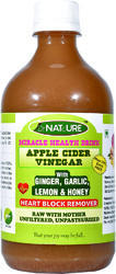 Heart Care Health Drink - Apple Cider Vinegar, Ginger, Garlic, Lemon, Honey