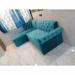 L Shape Velvet Chaise Modular Sofa, Living Room