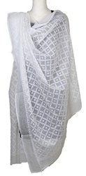 Chikan Work Cotton Dupatta