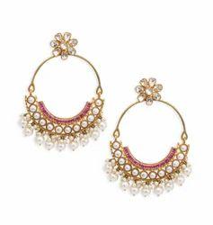 Gold Chand bali Earring
