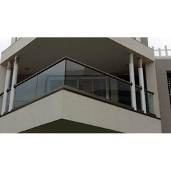 Balcony Aluminum Frame Glass Railing
