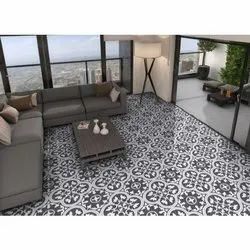 Ceramic Polished Glazed Vitrified Floor Tiles, Thickness: 9 to 12 mm, Size: 600 X 600 mm