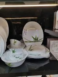 Ceramic White Acrylic Crockery Set, Packaging Type: Box