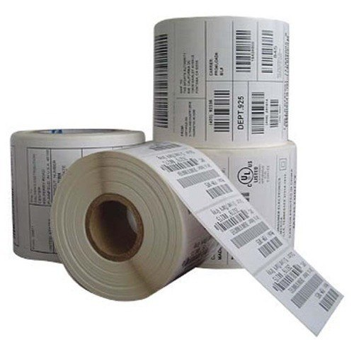 PP Barcode Adhesive Sticker, Packaging Type: Roll