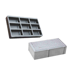 9 Cavities Paver Blocks Rubber Mould