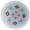 Indian Marble Inlay Plate Home Decorative Marble Inlay Plate