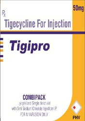 Tigipro Tigecycline Injection, Prescription, Packaging Type: Vial with stopper