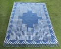 Indigo Cotton Printed Rugs & Carpets