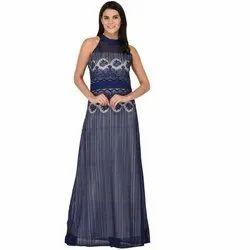 Women A-line Blue Dress