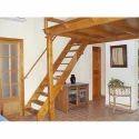 Brown Teak Wood Staircase