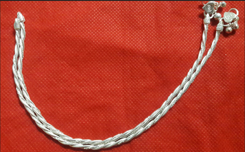 Grey Inches 10 Antique Anklet Ak - 0004