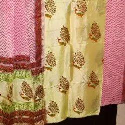 Tridev Febrics Wedding Wear Pure Silk Suit Fabric, Dry clean