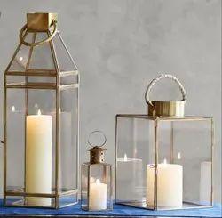 K&T SS Gold Plated Lanterns, for Hotel & Restaurant
