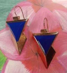 SS Collection Matel Fancy Gold Earrings, 5 Gr