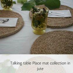Beige Braided Jute Table Mats