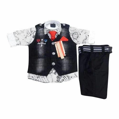 Boys Denim Jacket Baby Suit