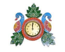 Clock Peacock Shape
