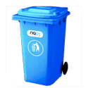 Polyethylene HDPE Two Wheeled Dustbin