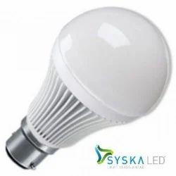 White Syska 9 Wt LED Bulb, 6 W - 10 W