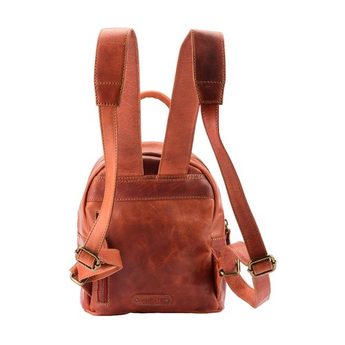 39a6b5017d Women's Genuine Leather Mini Backpack Vintage Looking Handcrafted College  Bag Small School Bag