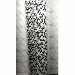 Sevenza Gloss White and Black Bathroom Tiles, Thickness: 5-10 mm