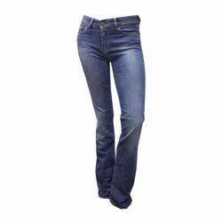 Ladies Blue Plain Stretchable Jeans, Size: 26 - 30
