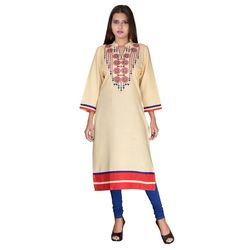 Embroidered Rayon Cotton Kurti