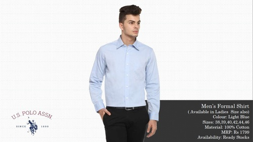 4b6b7ae1 Plain Full US Polo Assn Shirts, Rs 1180 /piece, Scorpion Ventures ...