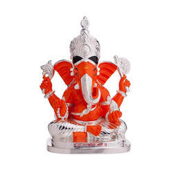 Silver Coated Ganesh Statue
