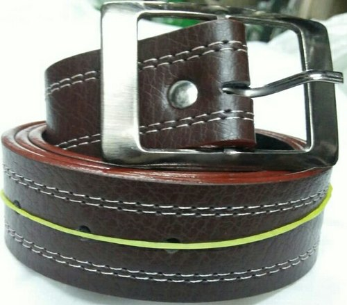 Brown Plain Leather Belt, Packaging Type: Box