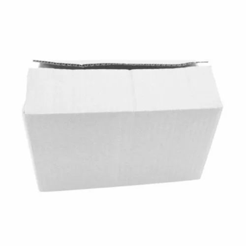 3 Ply White Packaging Corrugated Box 7x4x4 Inch