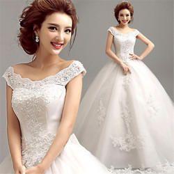 Christian Wedding Catholic Gown, White Frock B5956