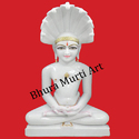 White Marble Parshwanath Statue