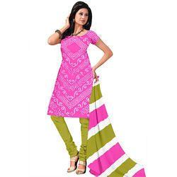 Pink Bandhej Suit