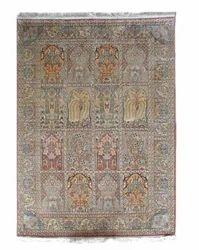 Hamadan Design Pure Silk Rug From India- SE03