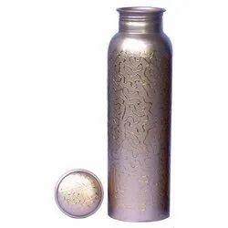 1000ml Silver Copper Printed Bottle