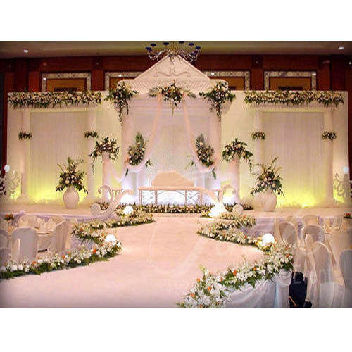 Wedding Stage Flower Decoration: Flower Decorative Stage, स्टेज डेकोरेशन In George Town