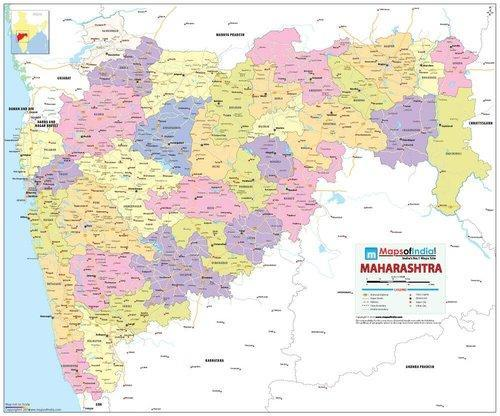 Maharashtra map printed on vinyl 70 x 84 cm wall chart at rs maharashtra map printed on vinyl 70 x 84 cm wall chart stopboris Images