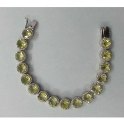 925 Sterling Silver Lemon Topaz Tennis Bracelet