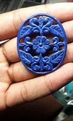 Blue Oval Gems Stones for Decoration