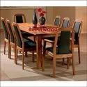Applewood 8 Seater Modern Wooden Dining Table Set