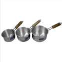 Sauce Pan with Wooden Wire Handle