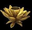 Lotus Brass Candle Stand