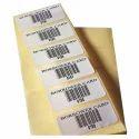 Printed Paper Barcode Adhesive Label