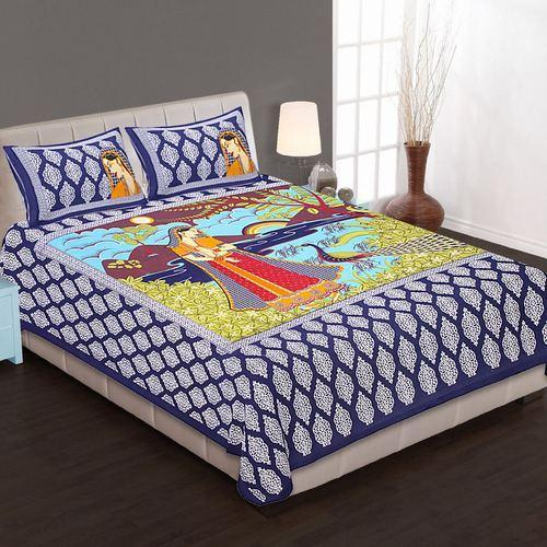 Poster Print Cotton Double Bed Sheet Set At Rs 380 Set Sanganer