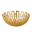 Contemporary Look Metal Fruit Bowl Gold Finish