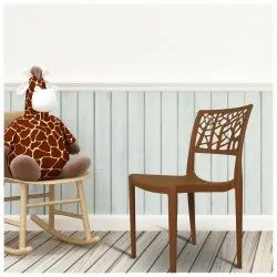 Diya Brown New Cafe Chairs for Indoor, Outdoor