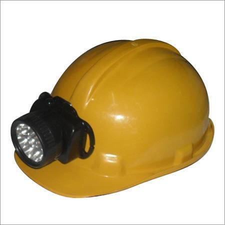 Safety Helmet with Rechargeable Torch